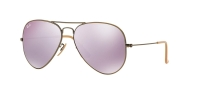 RB 3025 167/4K AVIATOR™ LARGE METAL FLASH LENSES