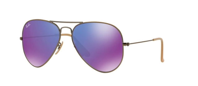 RB 3025 167/1M AVIATOR™ LARGE METAL FLASH LENSES