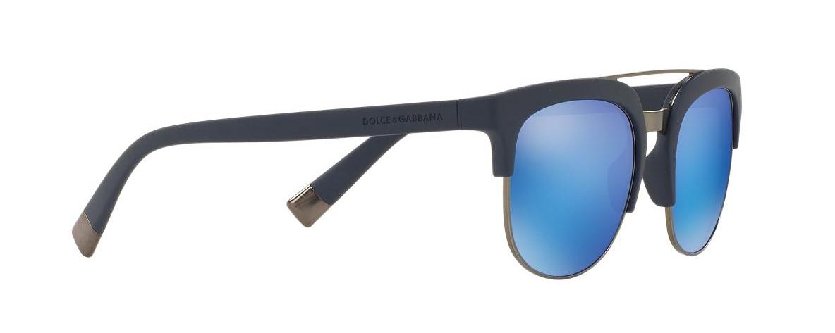 Dolce   Gabbana Sunglasses DG 6103 Matte Blue 303125   Leonardo Optics 364b54403584
