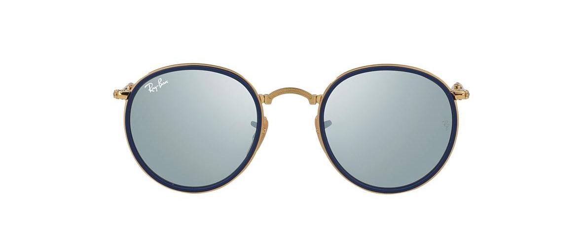 Ray-Ban Sunglasses RB 3517 001 30 ROUND FOLDING I FLASH LENSES ... d8159c1dc9